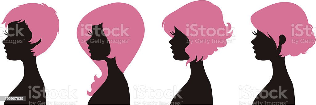 Hairstyles 2 royalty-free stock vector art