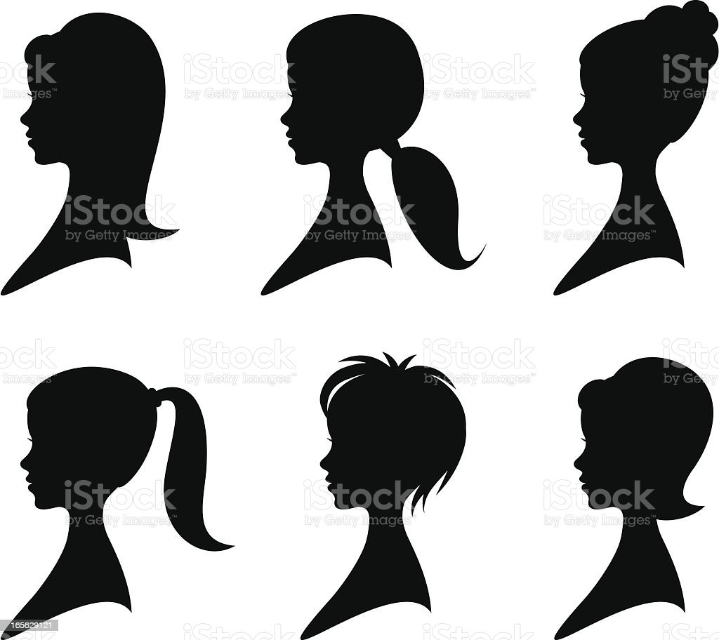 Hairstyles royalty-free stock vector art