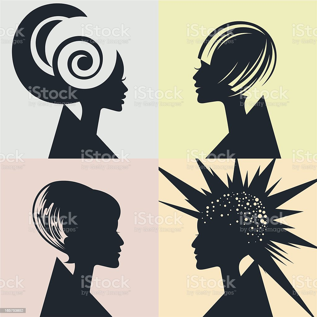 Hairstyles. royalty-free stock vector art