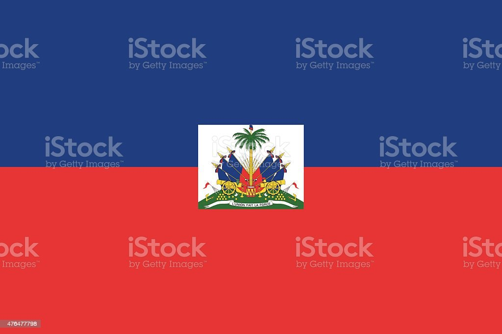 Haiti flag vector art illustration