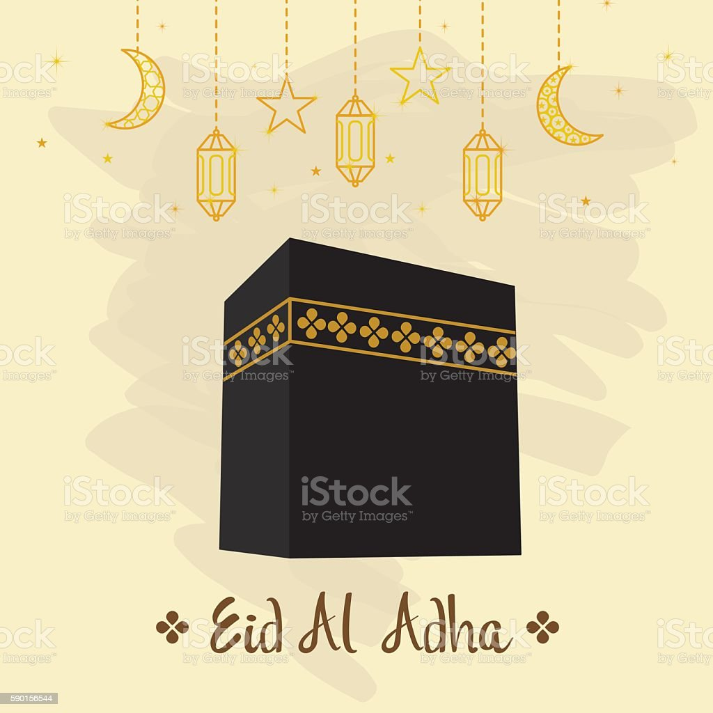 Hajj greeting card vector art illustration