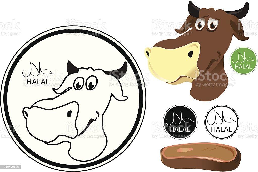 Halal Meat royalty-free stock vector art