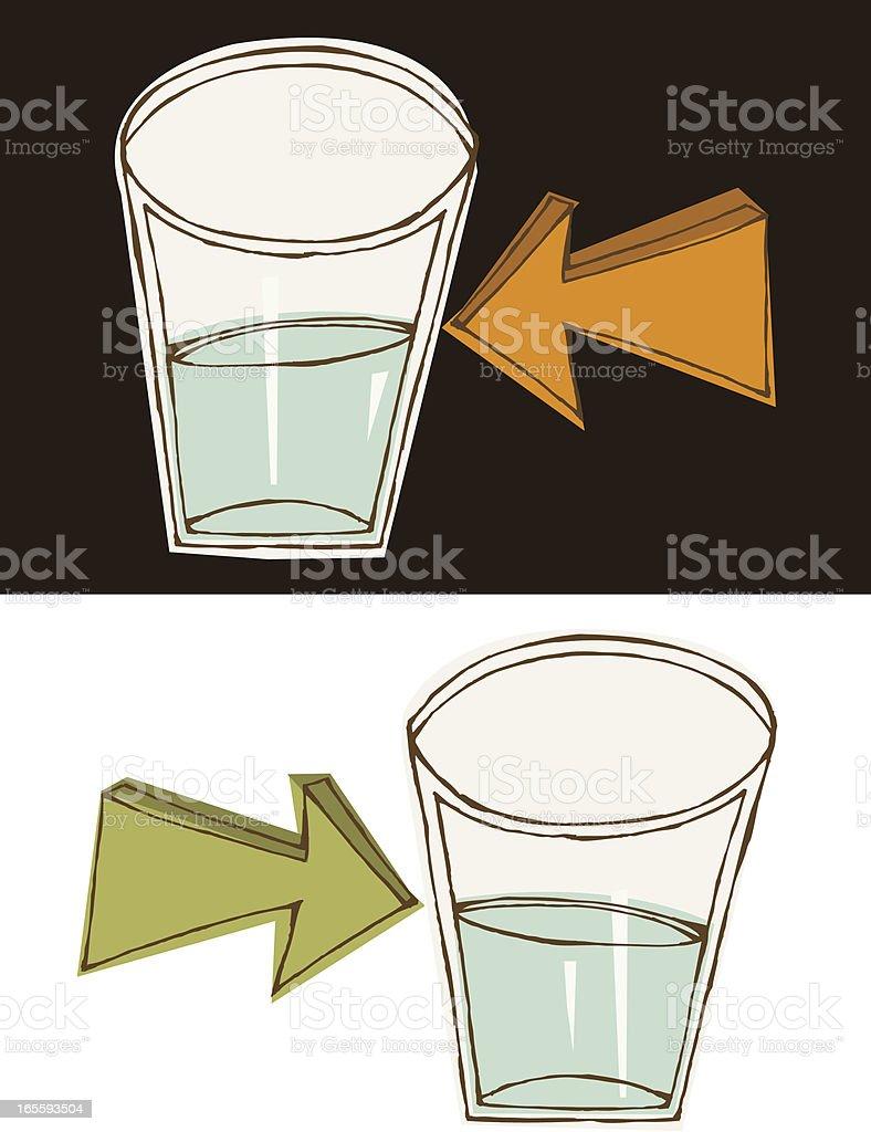 Half Empty or… vector art illustration