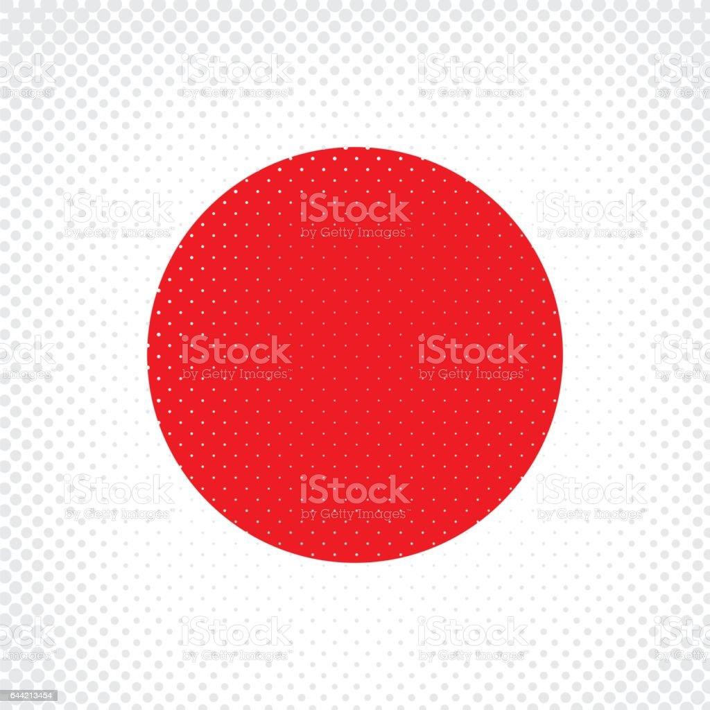 Half Tone Flag - Japan vector art illustration