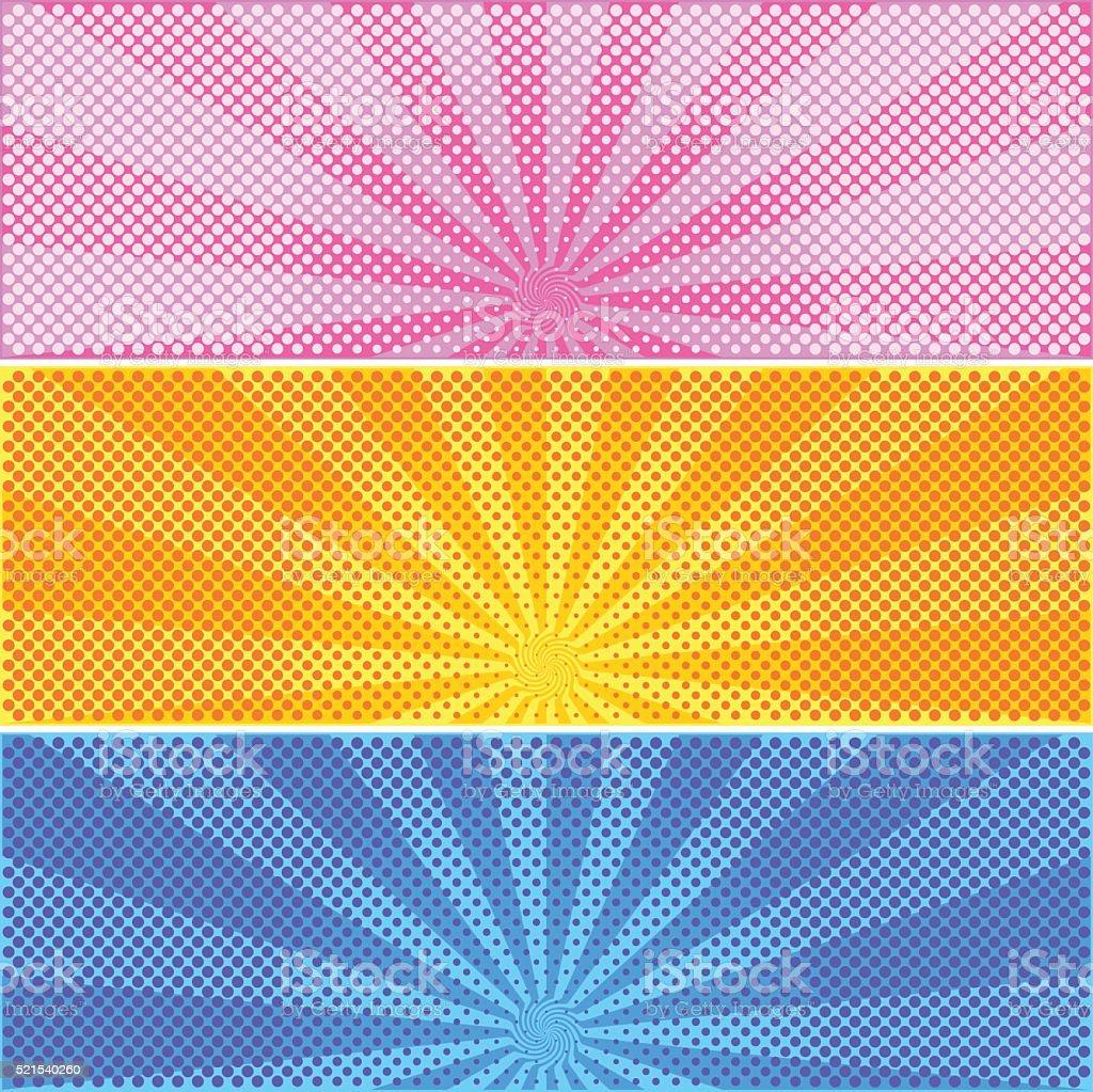 halftone background vector art illustration