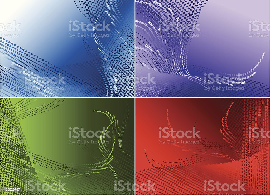 Halftone backgrounds . royalty-free stock vector art