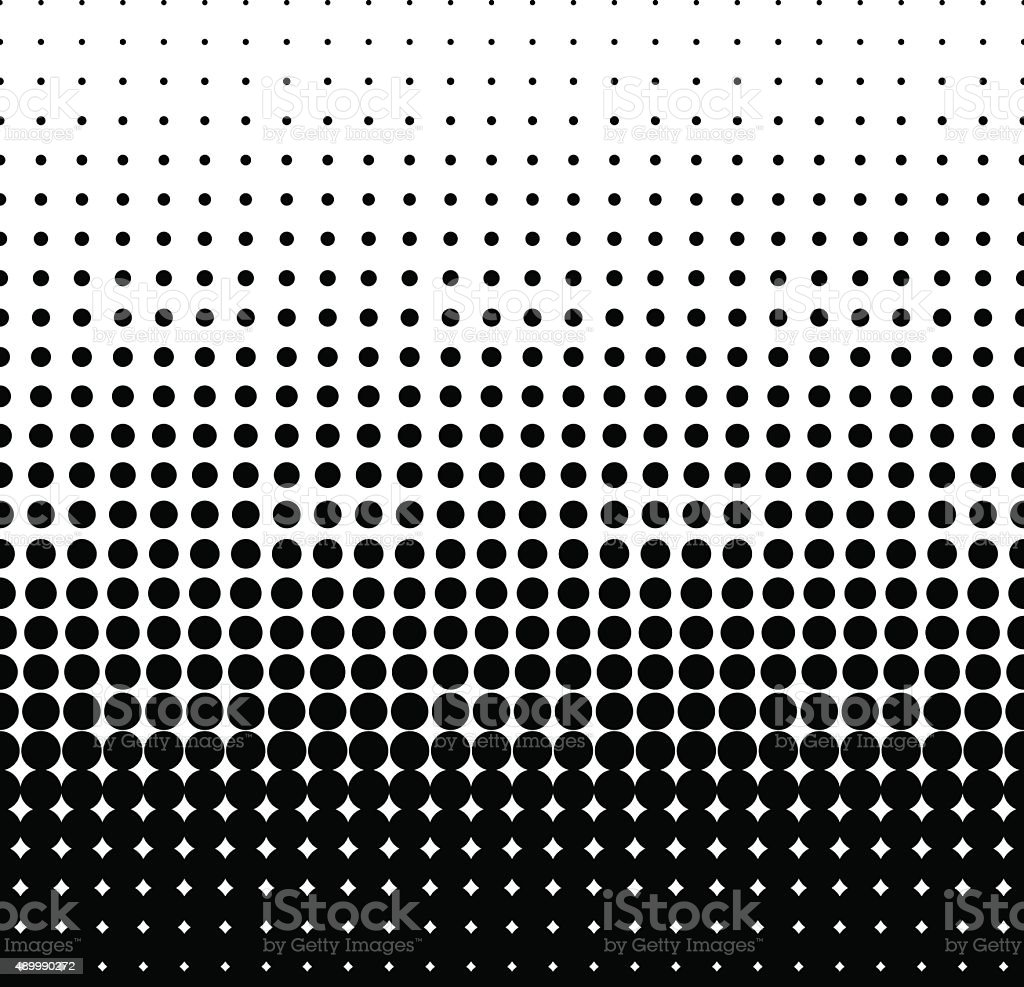 halftone black vector art illustration