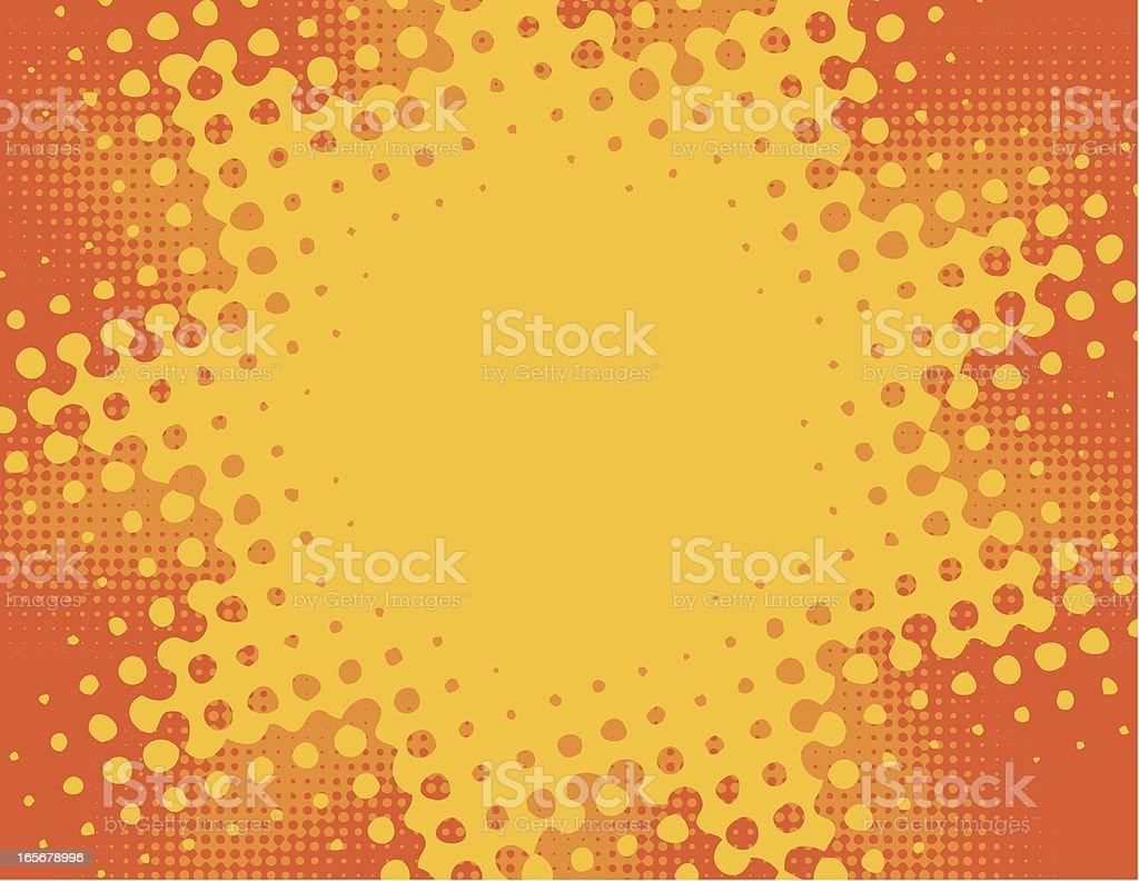Halftone burst background royalty-free stock vector art