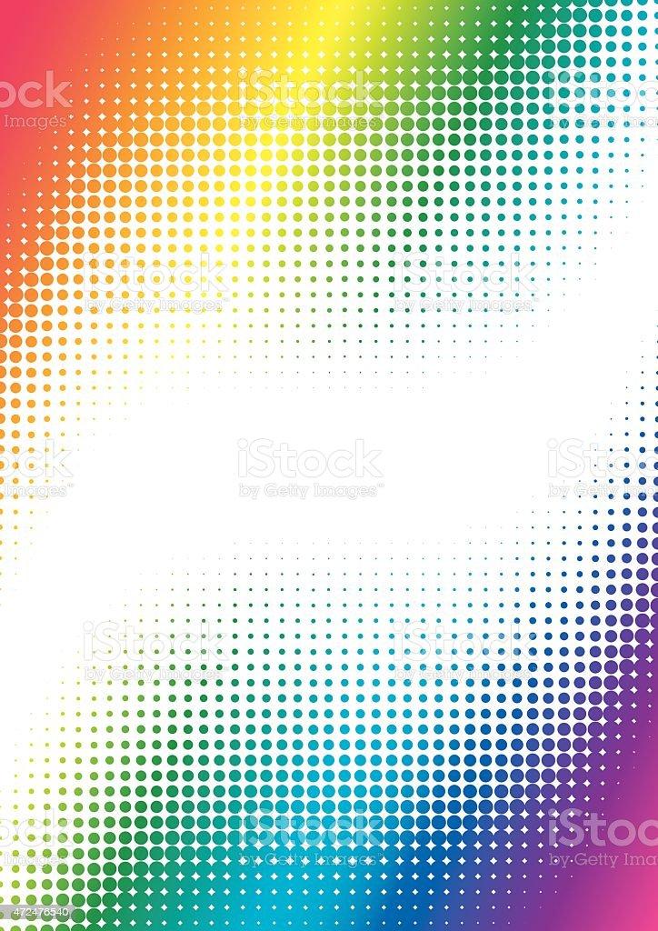 halftone colorful background vector art illustration