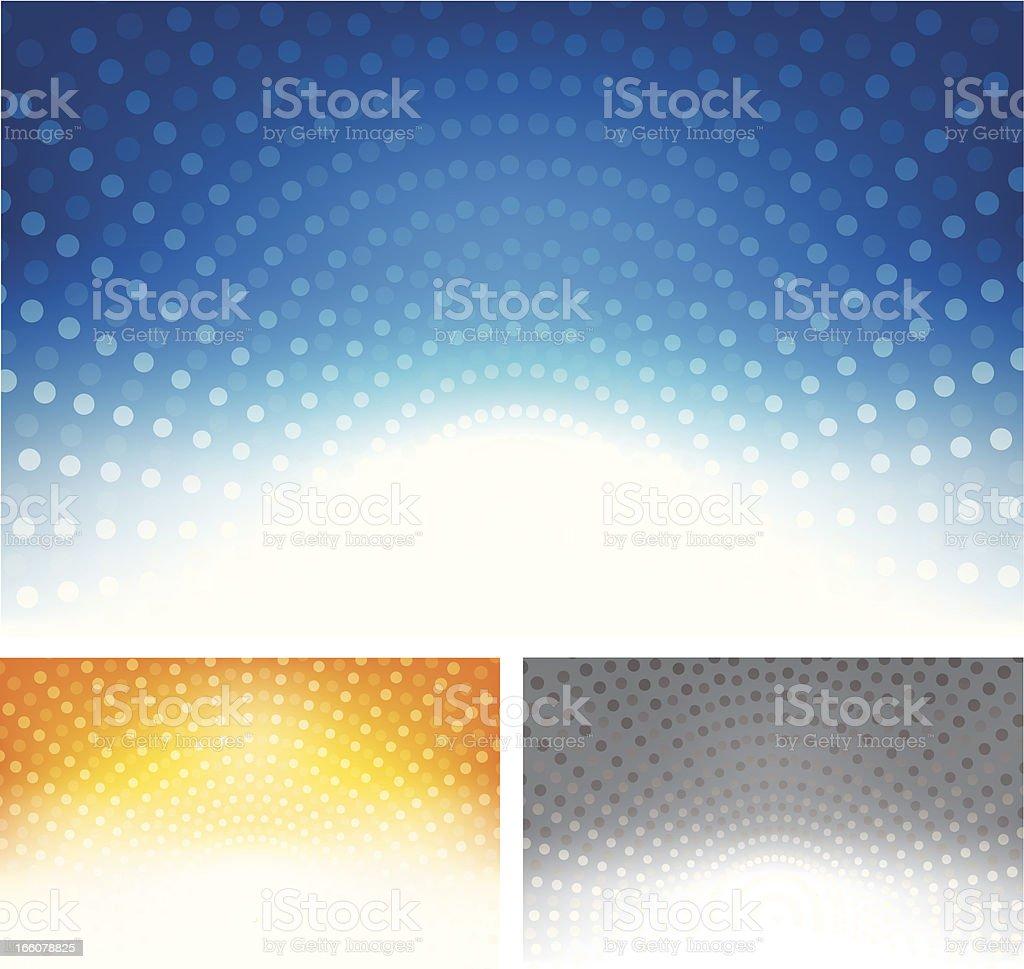 Halftone dot background set royalty-free stock vector art