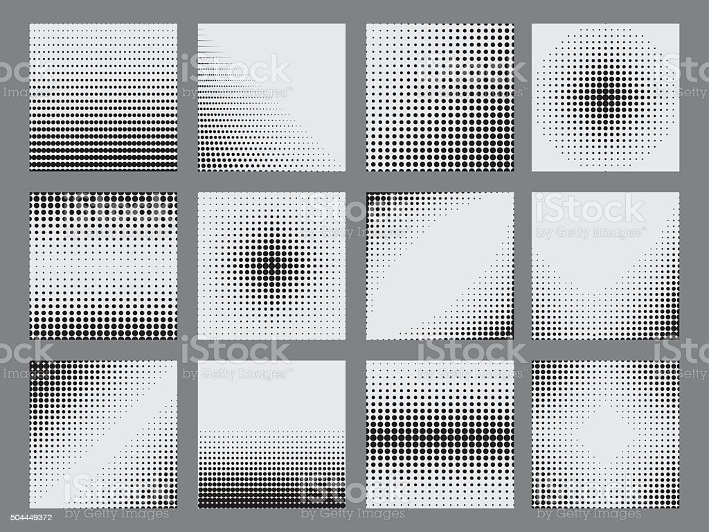 Halftone dots on white background. vector art illustration