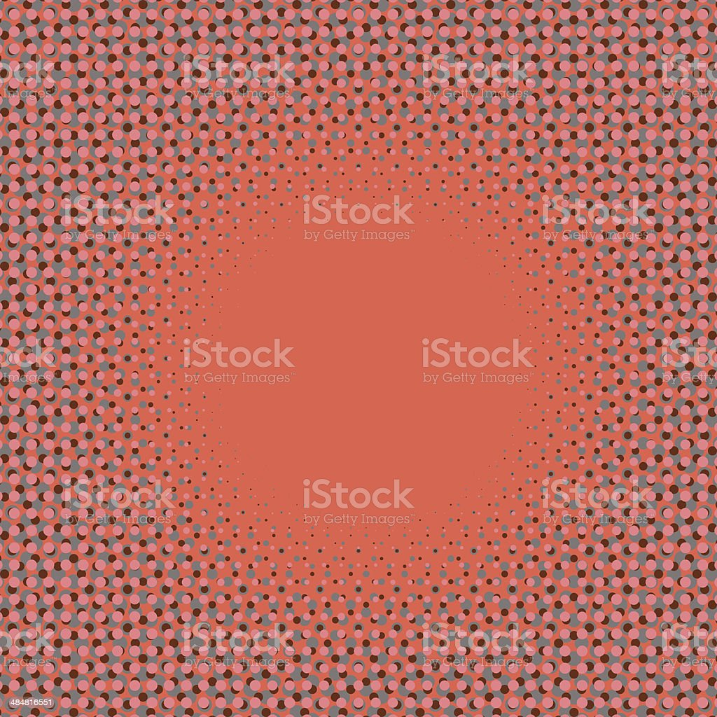 halftone frame pattern vector art illustration
