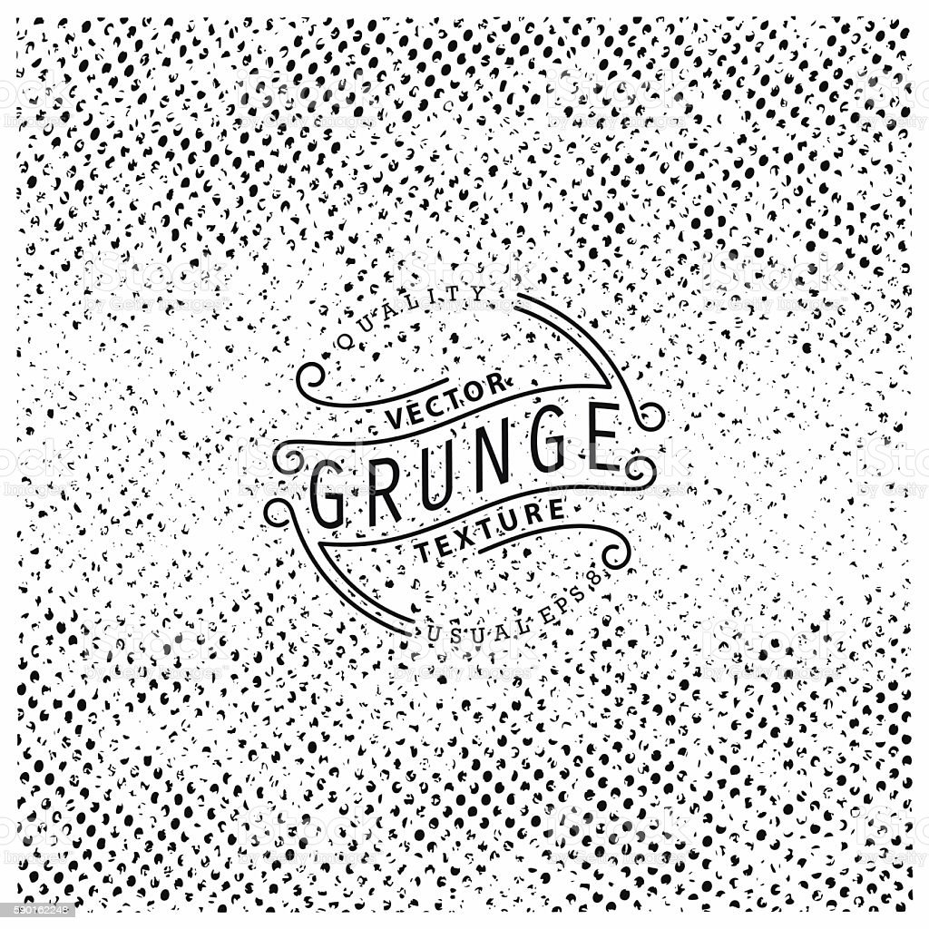 Halftone grunge texture vector art illustration