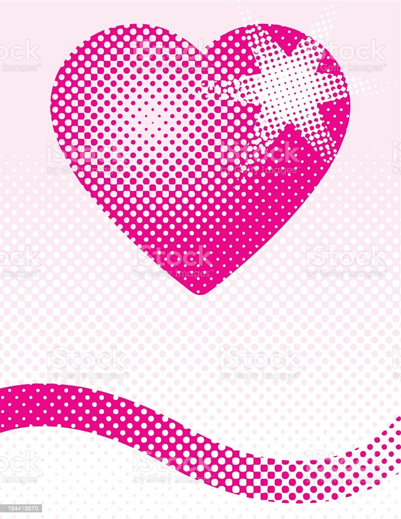 Halftone Heart royalty-free stock vector art