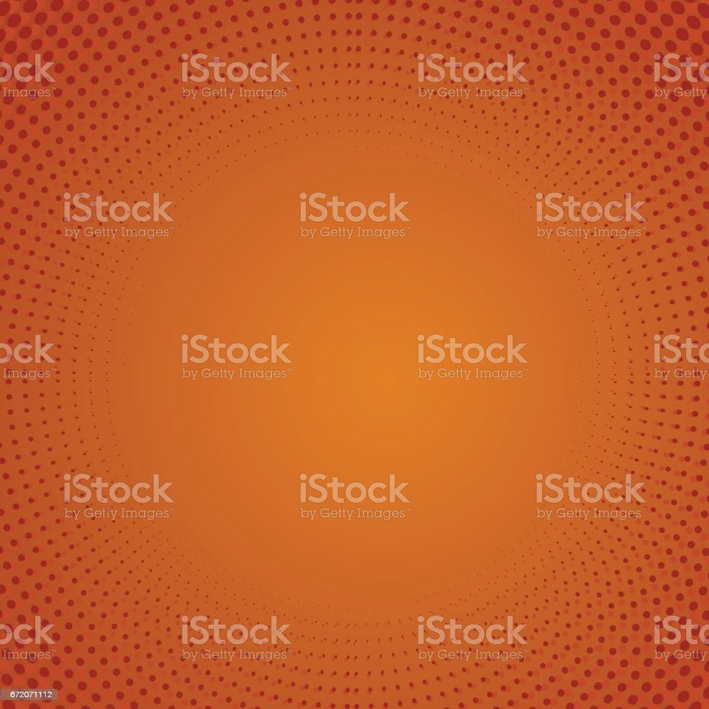 Halftone Pattern. Dots on Orange Background vector art illustration