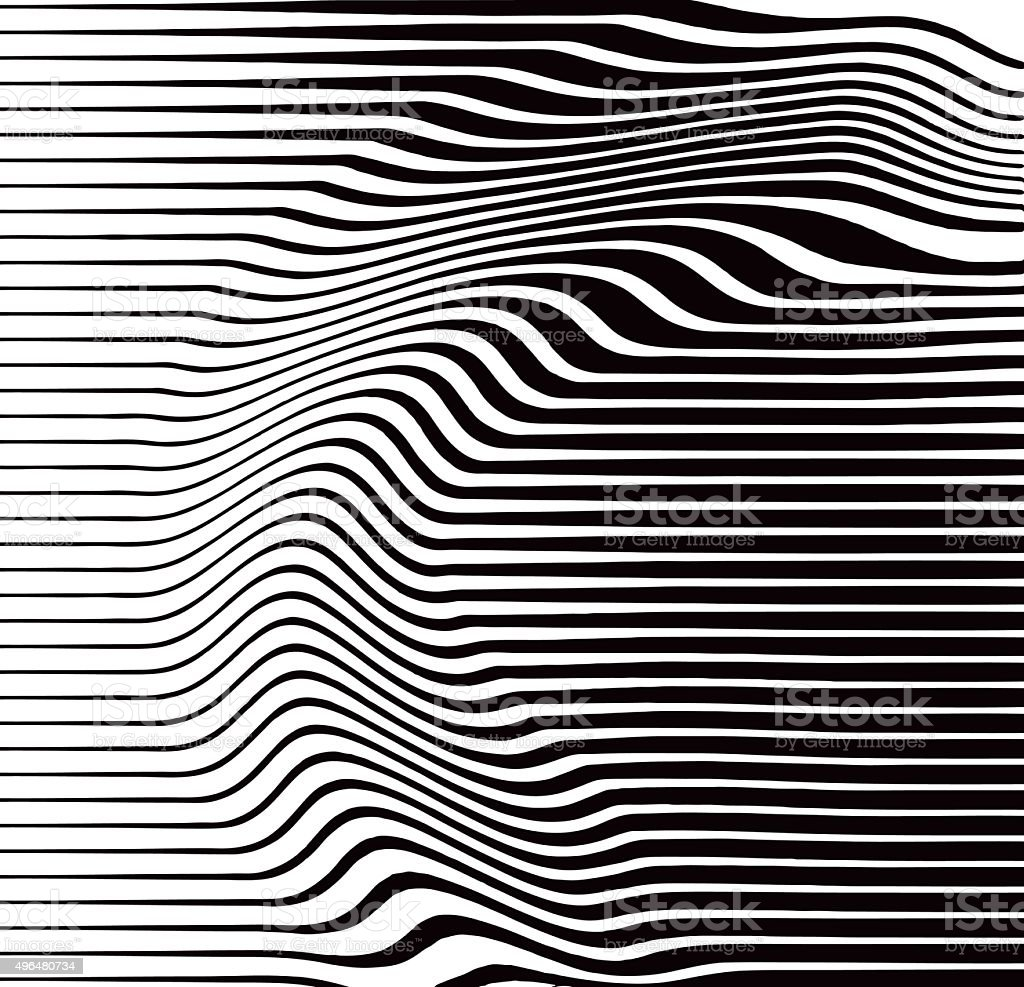 Halftone Pattern of Rippled and Wavy Lines vector art illustration