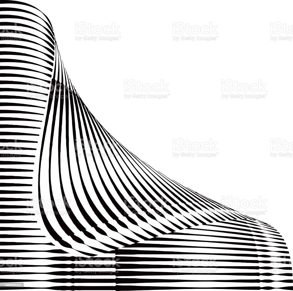 Halftone Pattern Square Shape with Folded Corner vector art illustration