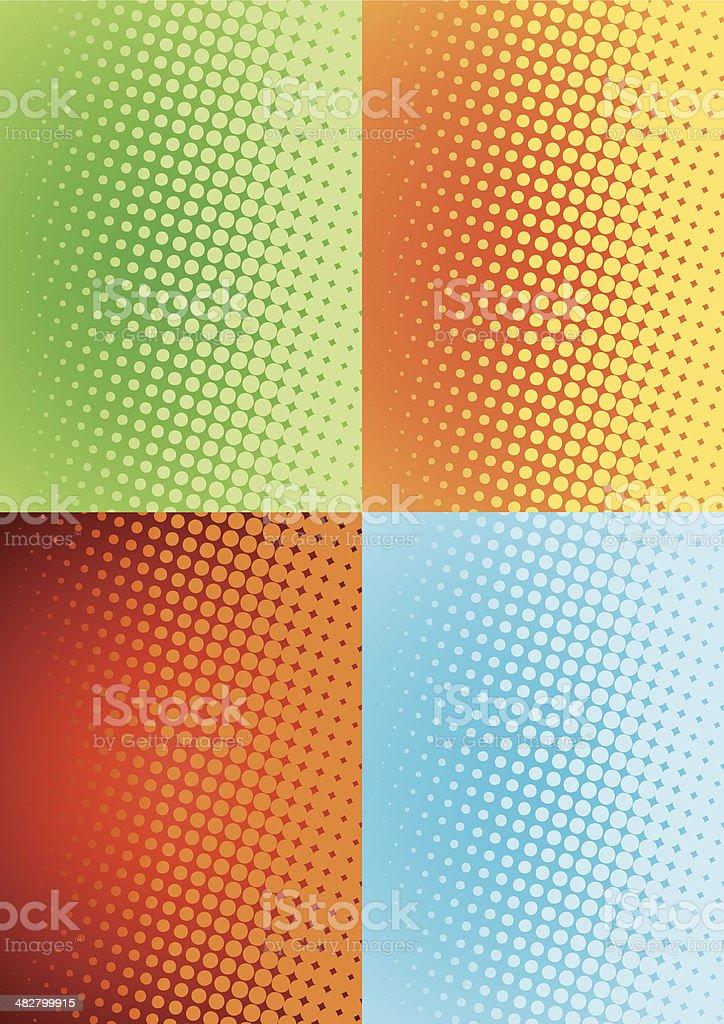 halftone pattern vector art illustration