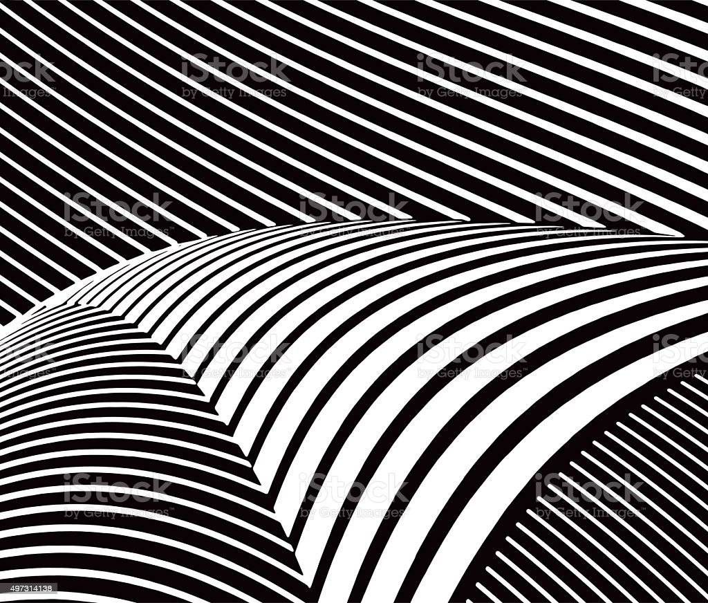 Halftone Pattern Wavy Stripes with Gradient vector art illustration
