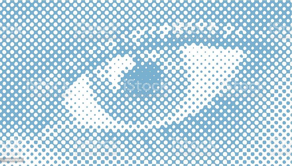 Halftone Retro Vector, Close-up of a woman's eye royalty-free stock vector art