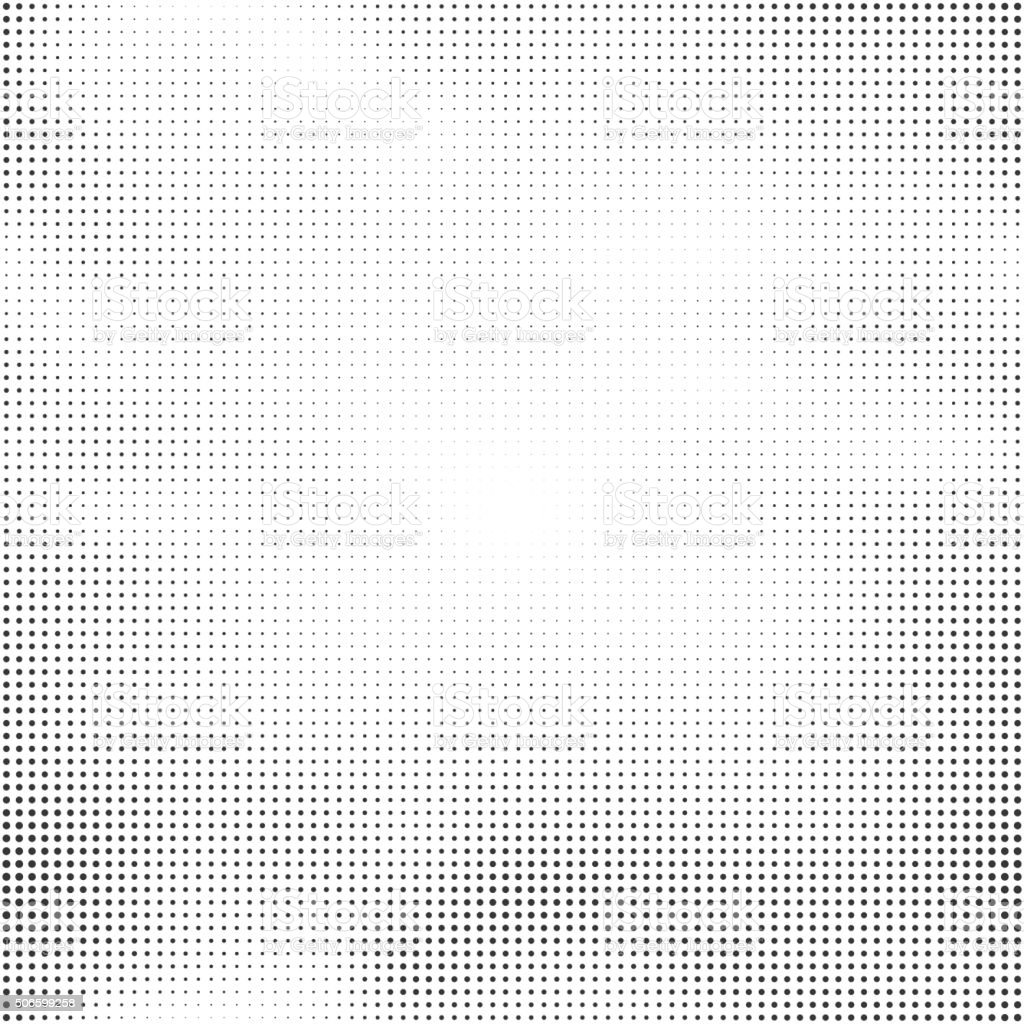 Halftone seamless vector background. Abstract halftone effect with black dots vector art illustration