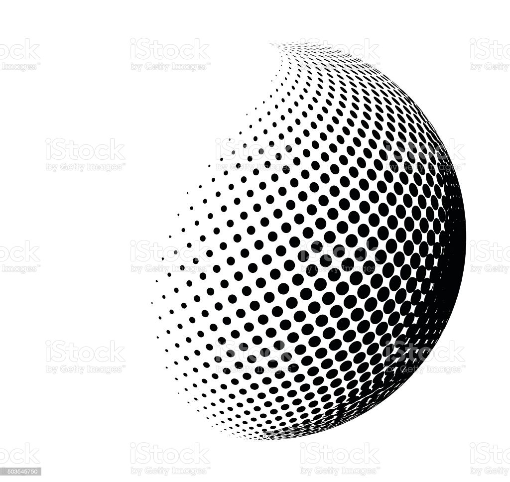 halftone shape vector logo symbol, icon, design. vector art illustration