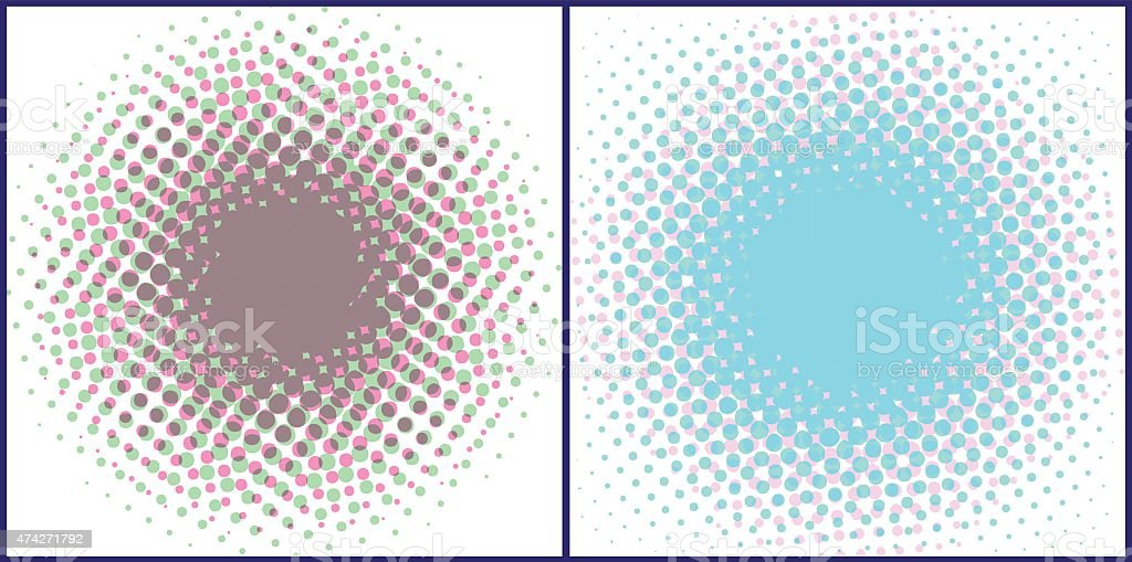 Halftone spotted backgrounds. vector art illustration