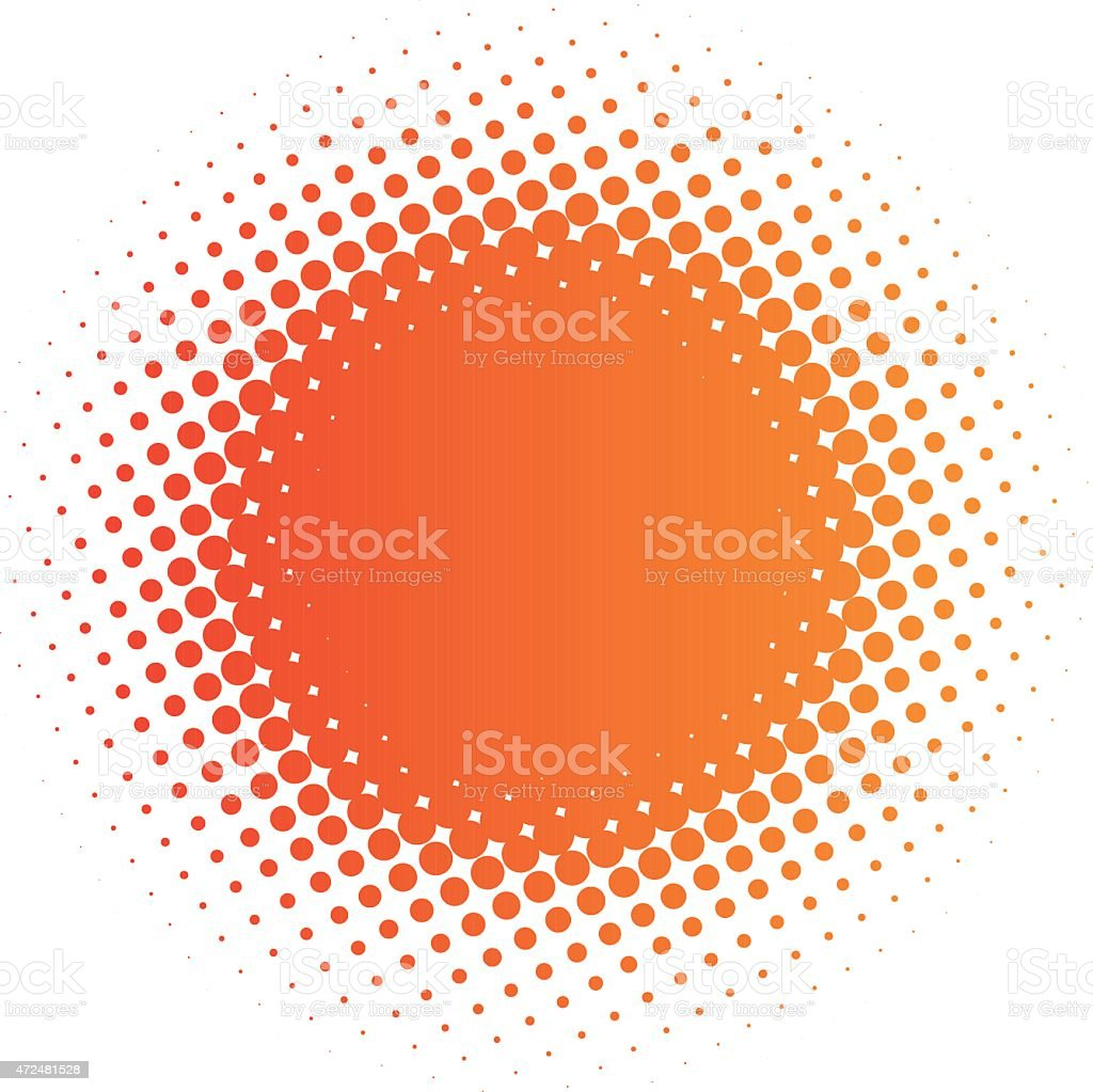 halftone sun vector art illustration