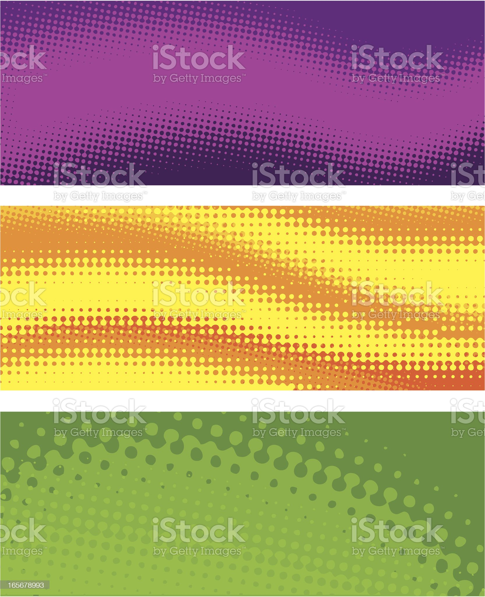 Halftone wave banners royalty-free stock vector art