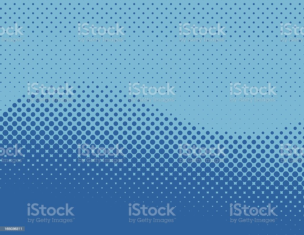halftone wave royalty-free stock vector art