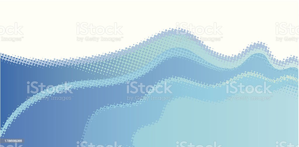 Halftone wave royalty-free stock vector art