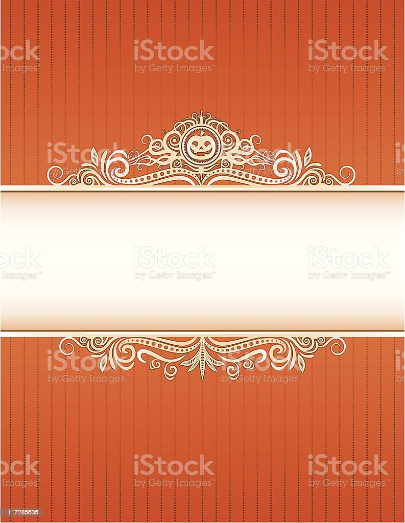 Hallow jack Frame royalty-free stock vector art