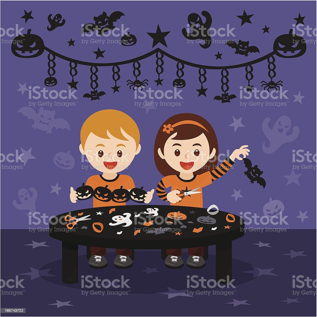 Halloween art and craft fun royalty-free stock vector art