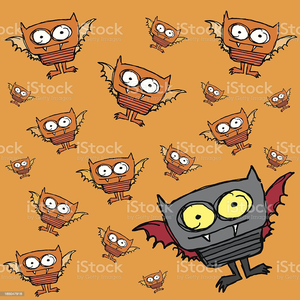 Halloween baby bat background royalty-free stock vector art