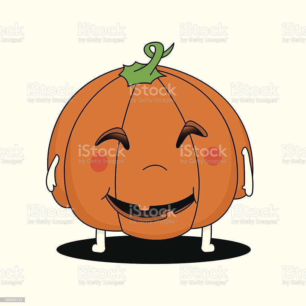 Halloween baby Jack o' Lantern vector art illustration