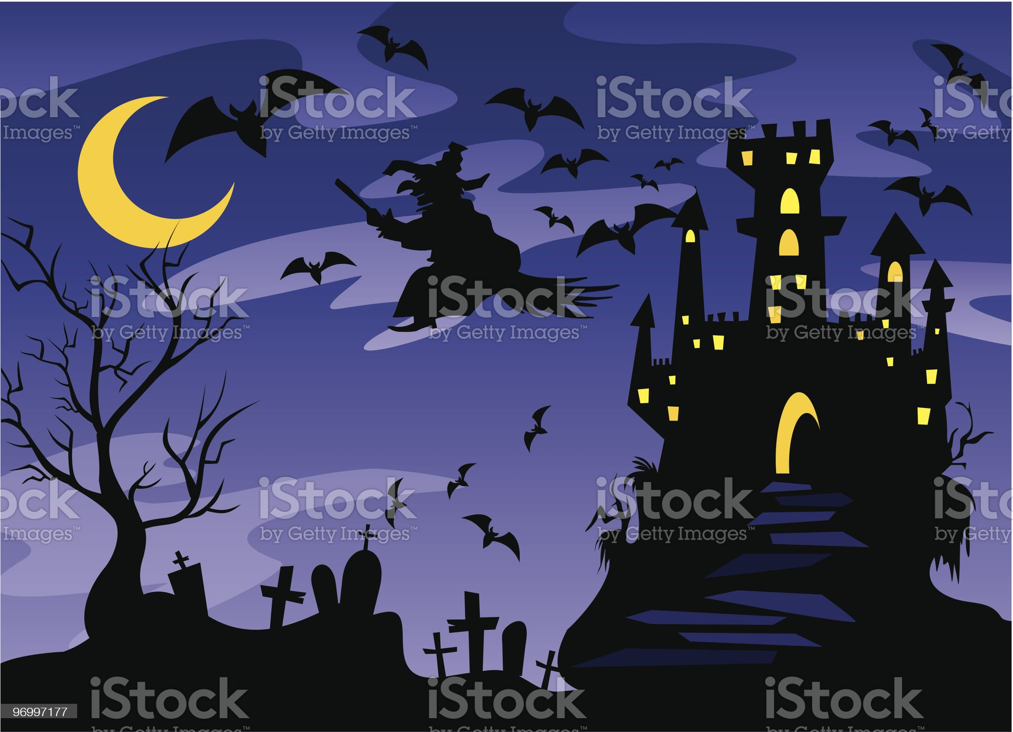 Halloween background 2 royalty-free stock vector art