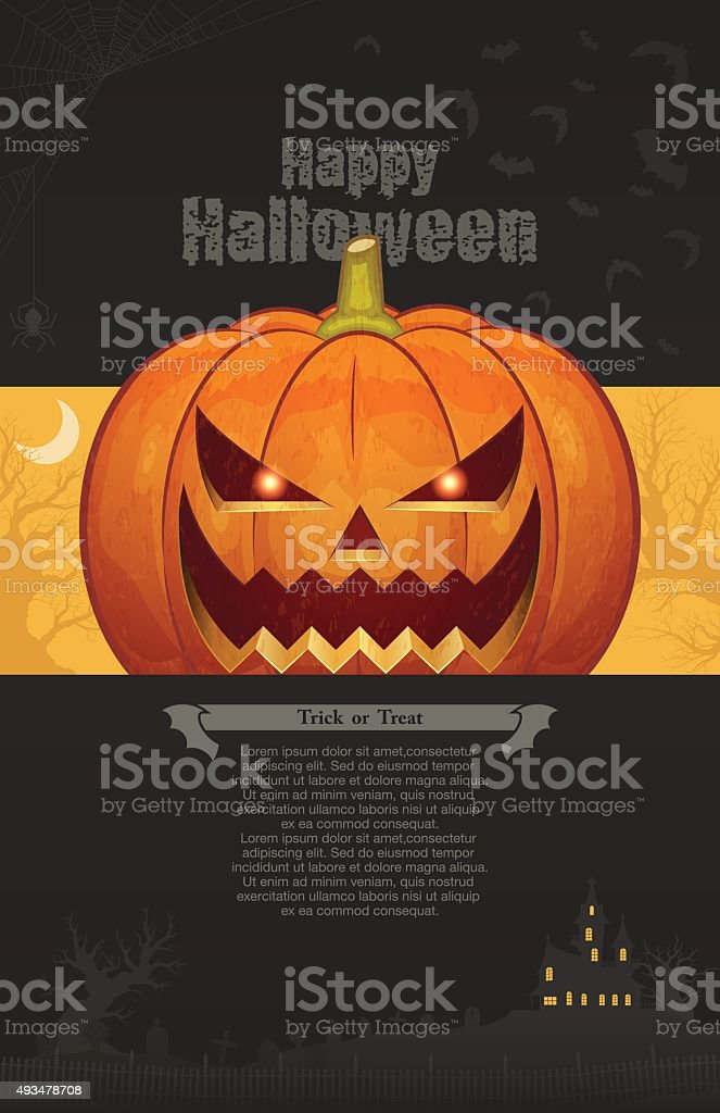 Halloween background [Card and Poster template] vector art illustration
