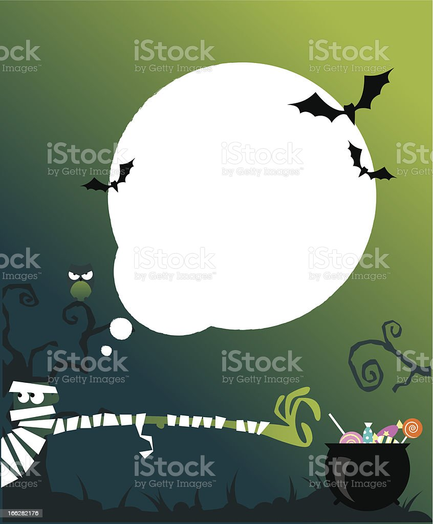 Halloween background for kid's party royalty-free stock vector art