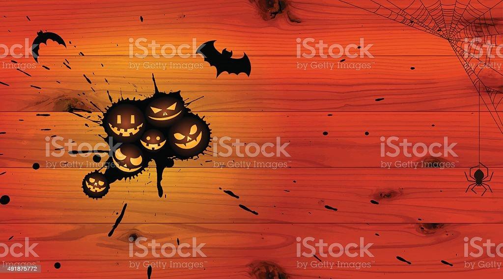 Halloween background [Jack o' Lantern droplet] vector art illustration