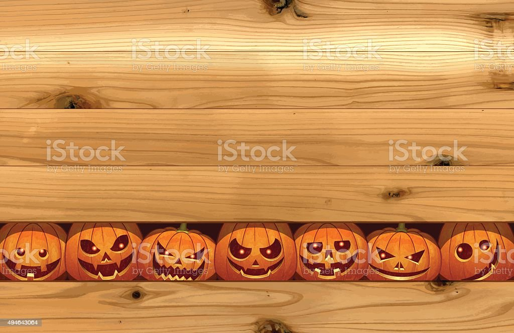 Halloween background [Pumpkin to peek] vector art illustration