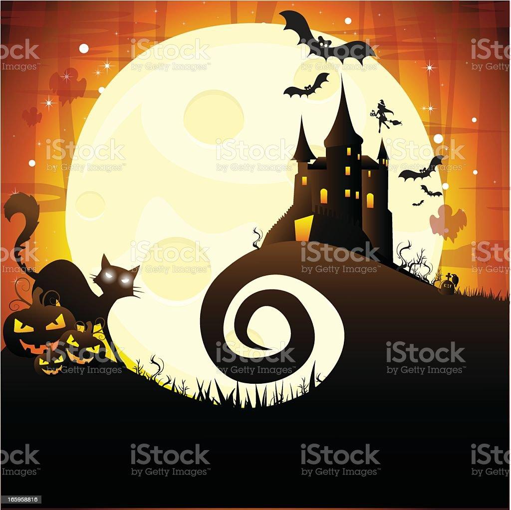 Fond d'Halloween stock vecteur libres de droits libre de droits