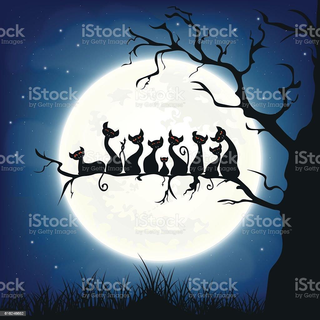 Halloween background. vector art illustration
