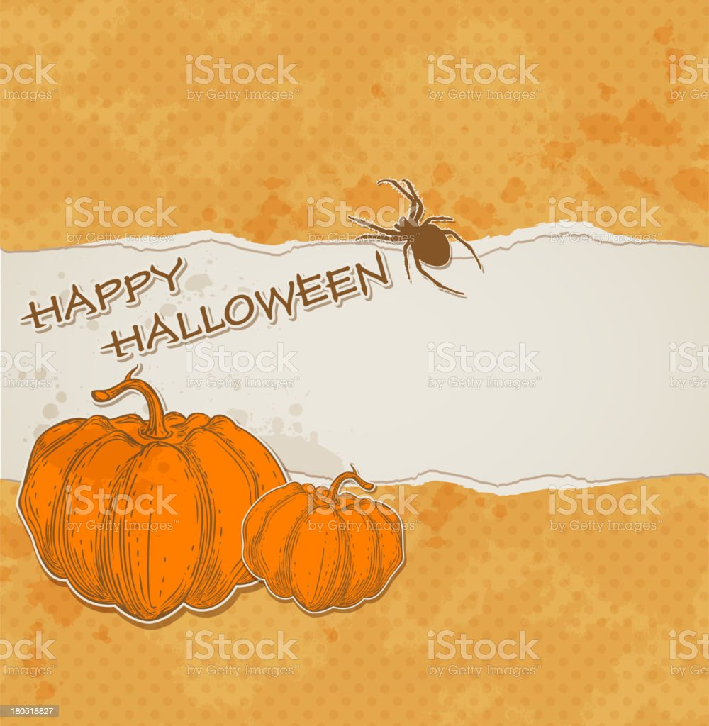 Halloween background with torn paper royalty-free stock vector art