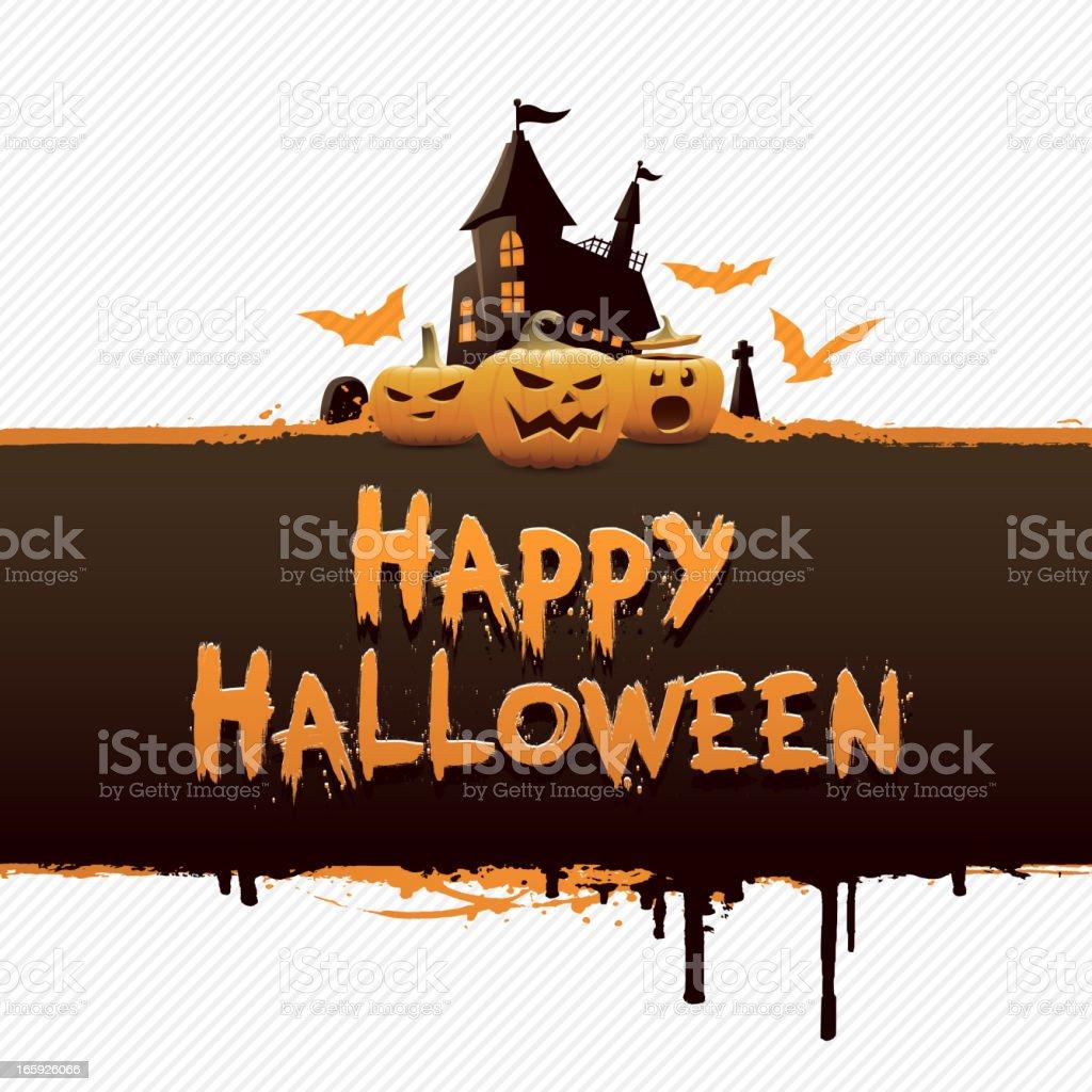 Halloween Banner royalty-free stock vector art