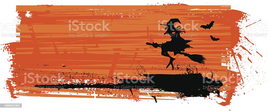 halloween banner with witch royalty-free stock vector art