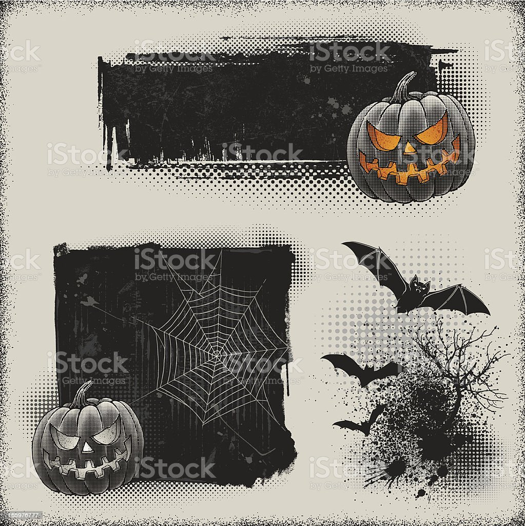 Halloween Banners royalty-free stock vector art