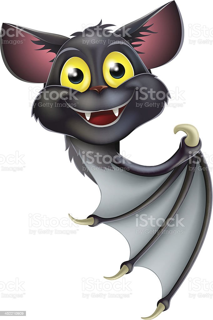 Halloween Bat Pointing royalty-free stock vector art