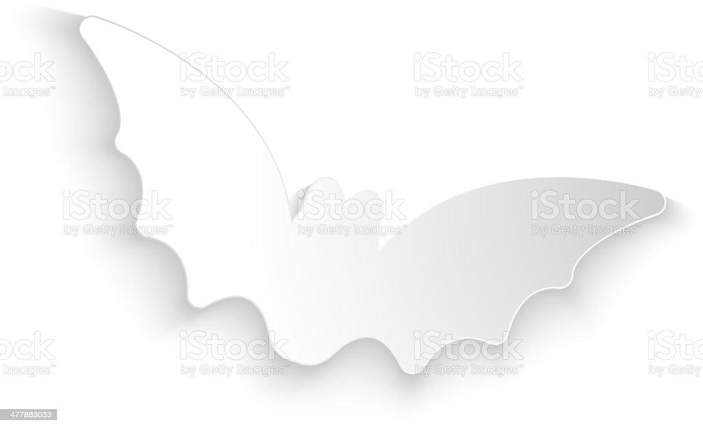 Halloween Bat White Paper Background royalty-free stock vector art