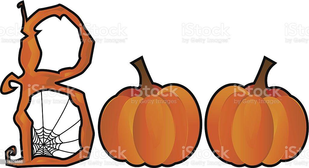Halloween Boo text royalty-free stock vector art