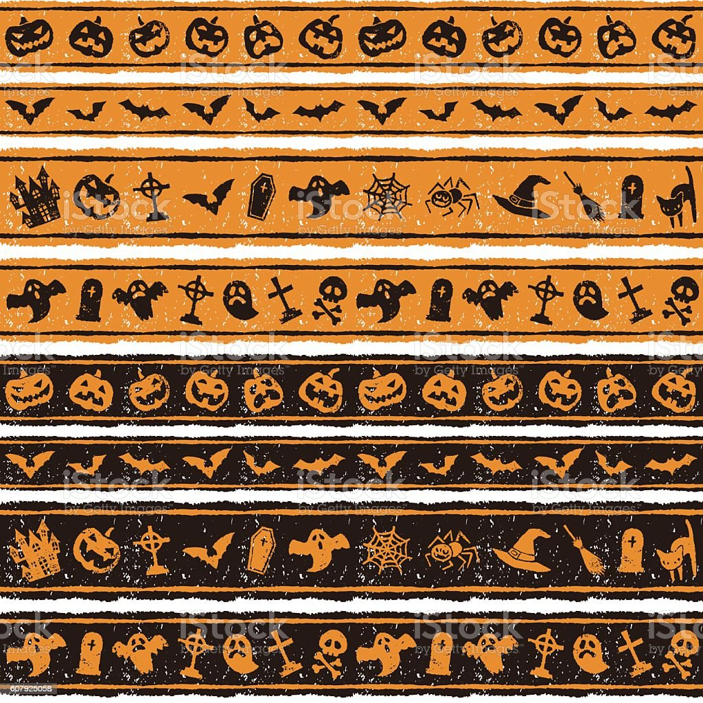 Halloween border design vector art illustration